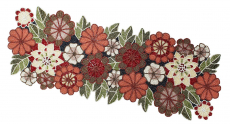 COTTON CRAFT – Beaded Table Runner – Floral Multi – 13×36 Inches $26.99 (REG $67.99)
