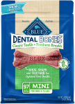 Blue Buffalo Dental Bones Natural Adult Dental Chew Dog Treats Mini 27oz $22.97 (REG $37.99)