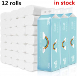 Toilet Paper Ultra Strong, 12 Rolls, 4-Ply Soft Ultra Professional White Toilet Paper $17.60 (REG $27.99)