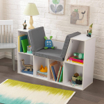 Bookcase with Reading Nook Toy, White $84.99 (REG $171.99)