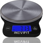 INEVIFIT DIGITAL KITCHEN SCALE, Highly Accurate Multifunction Food $18.69 (REG $49.99)