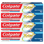 Colgate Total Whitening Toothpaste – 4.8 ounce (4 Pack) $6.21 (REG $12.98)