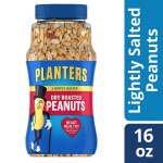 Planters Dry Roasted & Lightly Salted Peanuts (16 oz Canister) $2.84 (REG $5.40)