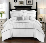 Ruched Ruffled Bedding with Sheet Set and Decorative Pillows Shams Included $74.09 (REG $199.50)