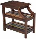 Mestler Rustic Chairside End Table, Brown W/ Multi-Colored Shelves $85.42 (REG $195.31)