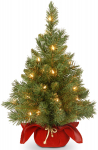 National Tree 24 Inch Majestic Fir Christmas Tree with 35 Clear Lights $19.93 (REG $39.99)