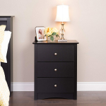 Sonoma Nightstand Tall 3-Drawer Black $96.99 (REG $199.99)