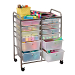 Honey-Can-Do Rolling Storage Cart and Organizer with 12 Plastic Drawers $45.61 (REG $90.00)