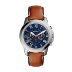 Fossil Men's Grant Quartz Stainless Steel and Leather Chronograph Watch $68.30 (REG $125.00)