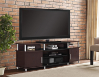 Ameriwood Home Carson TV Stand for TVs up to 70″ Wide (Cherry) $139.98 (REG $287.50)