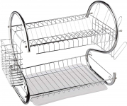 16-Inch, Chrome Plated, S-Shaped, Rust-Resistant, 2-Tier Dishrack $13.02 (REG $24.99)