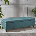 Christopher Knight Home Living Sterling Dark Teal Fabric Storage Ottoman $72.99 (REG $131.07)