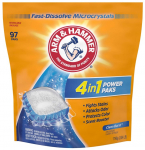 97 PC Arm & Hammer 4-in-1 Laundry Detergent Power Paks