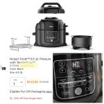 The Ninja® Foodi™ 6qt. Pressure Cooker & Air Fryer 2 in 1 Only $144 (Reg $239)