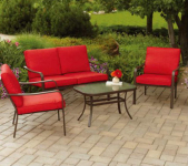 Mainstays 4-Piece Patio Furniture Set Only $199.00 Shipped!