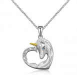 ACJNA Sterling Silver Unicorn Pendant Necklace $24.99 (REG $69.99)