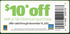 Aldi Coupon: $10 off $40 Purchase (Select States)