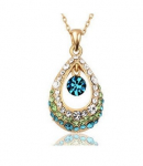 Angel Crystal Teardrop Pendant with Color Diamond Necklace Just $2.89 Shipped!!!