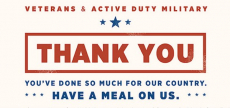 Free Meal For Veteran's At Applebee's!