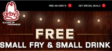 FREE Small Drink and Fry at Arby's with Purchase