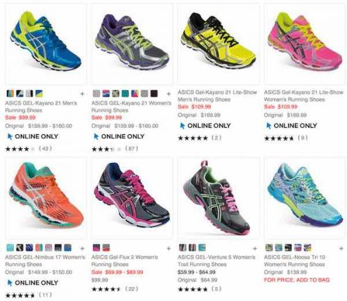 ASICS Women's Running Shoes As Low As