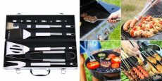 BBQ Grill Tools Set with Aluminum Case Only $16.11!