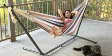 BCP Double Hammock Set + Steel Stand + Carrying Case Just $62.94 Shipped!