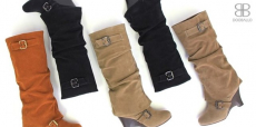 Women's Slouchy Buckle Tall Boots only $18.90 (reg $67.00)!