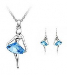 Ballet Angel Dancing Ballerina Crystal Pendant Necklace Just $1.43 Shipped