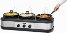 Bella Triple Slow Cooker for just $34.99 + Free Pickup!