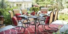 Belleville 7-Piece Padded Sling Outdoor Dining Set $200 Off + Free Pickup!