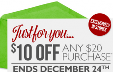 The Body Shop: $10 off of $20 Coupon!