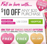The Body Shop Coupon: $10 off ANY $20 Purchase