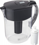 Brita Grand Pitcher with 1 Filter, Large 10 Cup, Black $26.99 (REG $39.99)
