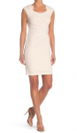 Calvin Klein Solid Ruched Crepe Sheath Dress $14.99 (REG $89.98)