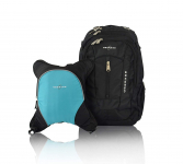 Bern Diaper Backpack, Shoulder Baby Bag, W/ Food Cooler, Clip to Stroller (Black/Turquoise) $27.47 (REG $99.99)