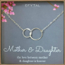 EFYTAL Mother Daughter Necklace Sterling Silver $39.95