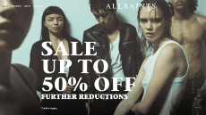 SALE Up to 50% OFF FURTHER REDUCTION by ALL SAINTS