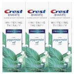 Crest 3D White Whitening Therapy Toothpaste, Peppermint Oil, 4.1 Ounce $9.95 ($17.99)