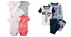 Carter's 5-Pack Bodysuits & 4-Piece Pajama Sets Starting At $9.77 At JC Penney!