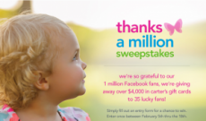 Carter's 'Thanks a Million' Sweepstakes – Over $4,000 in Carter's Gift Cards!