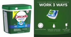Price Drop! Cascade Dishwasher Detergent Just $0.11/Pac Shipped!