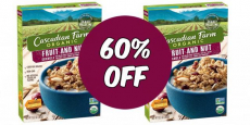 Cascadian Farm Organic Cereal Just $1.28/Box At Walmart!