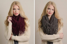 This Best-Selling Scarf Is Back! Chenille Tassel Infinity Scarf in 12 colors Only $8.99! Normally $29.99!
