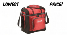 Lowest Price! Coleman 16-Can Soft Cooler With Hard Liner ONLY $9.17!