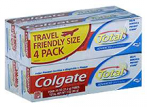 Colgate Total Travel Size 4pk Only 59¢ at CVS- No Coupons Required!