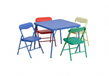 Colorful 5 Piece Folding Table and Chair Set $49.98 (REG $115)