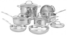 Enter To Win A Cuisinart Chef's Classic Stainless 11-Piece Cookware Set!