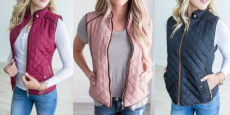 Cute Women's Quilted Vest Just $24.99! Reg $45!!!
