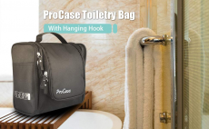 ProCase Toiletry Bag with Hanging Hook $15.99 (REG $39.99)